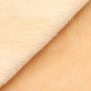 Ткань плюш трикотажный бежевый 50х50 см