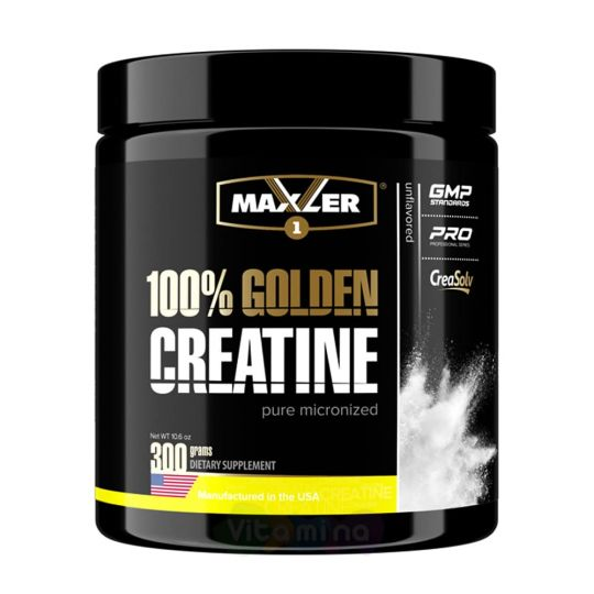Maxler Моногидрат креатина 100% Golden Creatine, 300 г