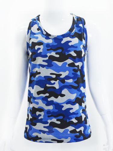 Майка-боксёрка камуфляжная для мальчиков 3-7 лет Bonito синяя