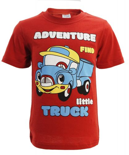 "Футболка для мальчика 1-4 года Bonito kids ""little Truck"" красная"