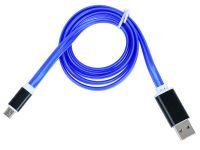 Кабель Gmini GM-MEL200FLAT, USB-microUSB светящийся, 1м
