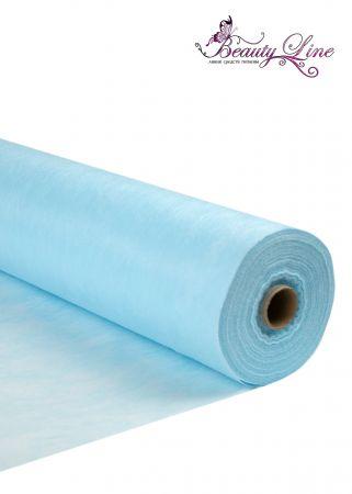 Простыни одноразовые - 80/200, плотность - 17; --- 100 штук, цвет голубой.