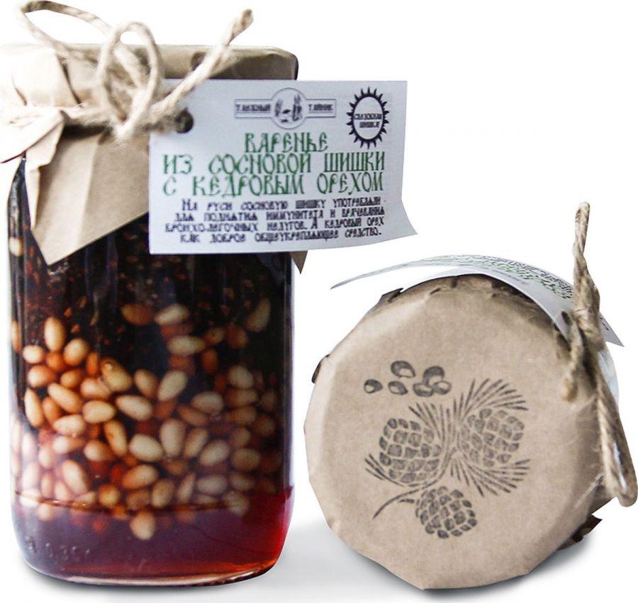 Варенье из сосновой шишки с кедровым орехом 420г, Таёжный Тайник