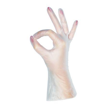 Перчатки виниловые MediOK, прозрачные, размер  S,M,L  - 100 штук