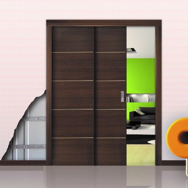 Пенал Open Space Paralelo Wood для двух дверей до 2400 мм