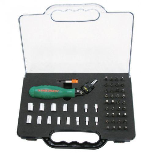 DR0253S Отверточная рукоятка трещоточная c гибкой головкой с набором насадок 53 предмета