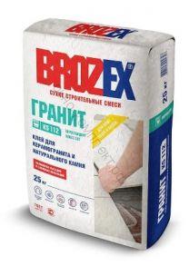 Клей для керамогранита и натурального камня KS 112 Brozex 25кг