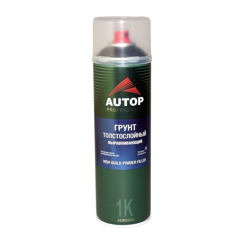 """Autop High Build Primer Грунт толстослойный выравнивающий №15, название цвета """"Черный"""", в аэрозольном баллоне, объем 650мл."""