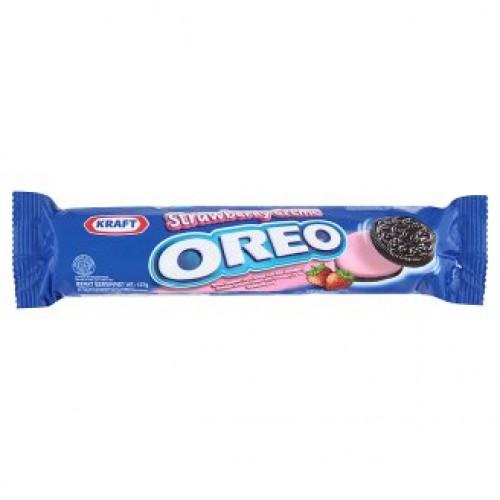 Шоколадное печенье с клубничным кремом Oreo 137 гр