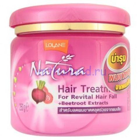 Маска для сухих волос от выпадения со свеклой Lolane Hair Treatment
