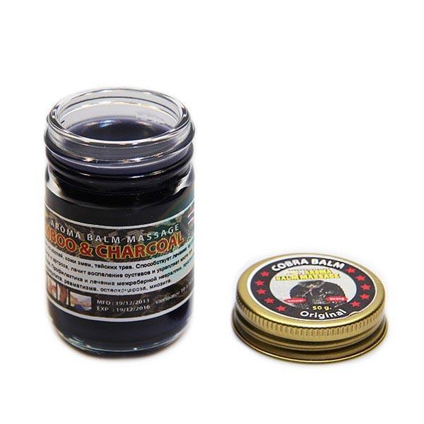 Черный тайский бальзам с коброй Cobra Balm 50 гр