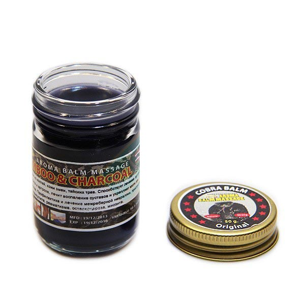 Черный тайский бальзам с коброй Cobra Balm 100 гр