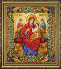 P-415 Картины Бисером. Икона Божьей Матери Всецарица. А4+