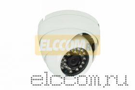 Купольная уличная камера IP 1. 0Мп (720P), объектив 3. 6 мм. , ИК до 20 м.
