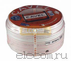 Кабель SAT 703B+CU/CU(75 Ом) 100м белый CAVEL