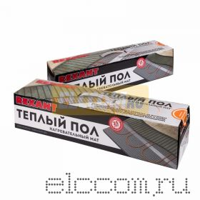 Теплый пол (нагревательный МАТ) REXANT Extra, площадь 9, 0 м2 (0, 5 х 18, 0 метров), 1440Вт, (двух жильный)