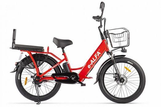 Велогибрид GREEN CITY e-ALFA Fat Красный