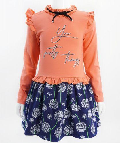 """Платье для девочек Bonito """"Одуванчик"""" коралловое"""