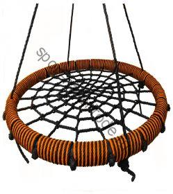 """Подвесные качели """"гнездо"""" диаметром 100 см KIDGARDEN оранжевый"""