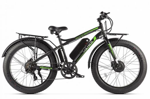 Велогибрид Volteco BigCat Dual New 2020 Черный