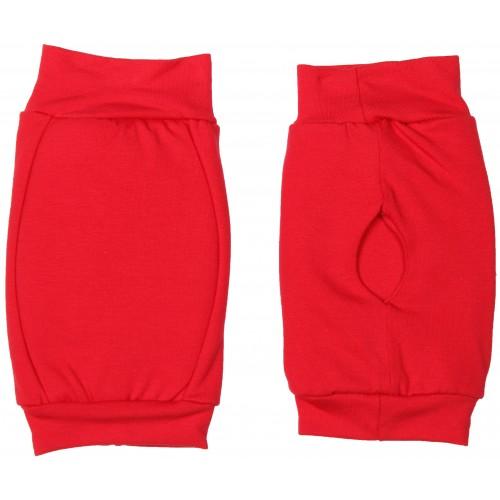 Наколенники для гимнастики и танцев INDIGO SM-113 хлопок красные