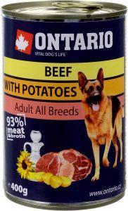 Ontario Консервы для собак: говядина и картофель