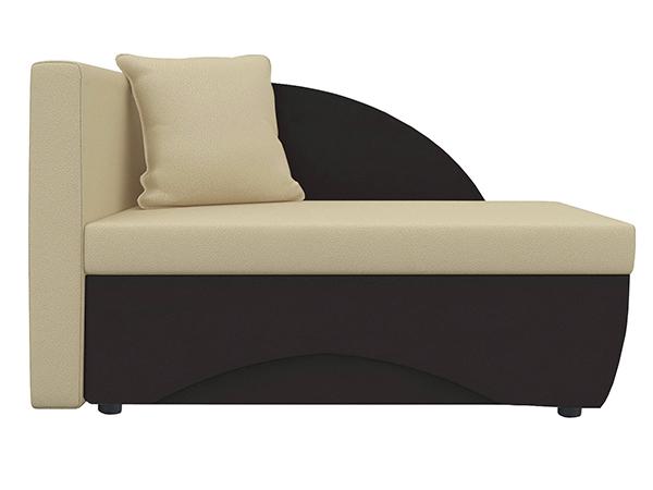 Кушетка Трио экокожа коричневый/бежевый