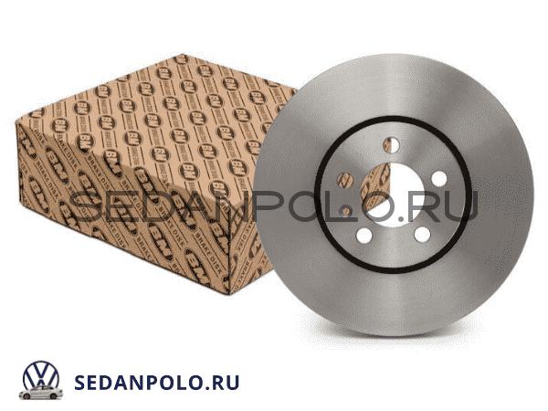 Диски тормозные передние BM Polo Sedan/Rapid CWVA/CZCA 110/125 л.с