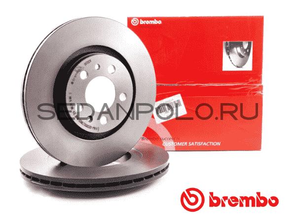 Диск тормозной передний BREMBO Polo Sedan/Rapid CWVA/CZCA 110/125 л.с