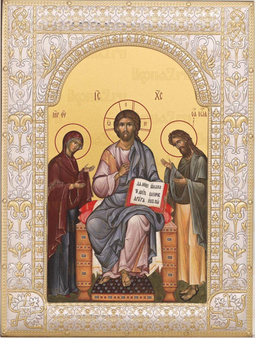 Деисус Икона Спас на престоле с предстоящими (18х24см)