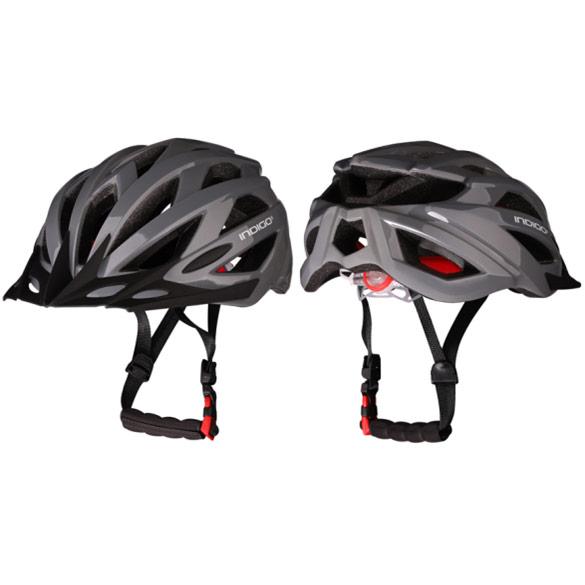 Шлем велосипедный взрослый INDIGO IN069 55-61см серый