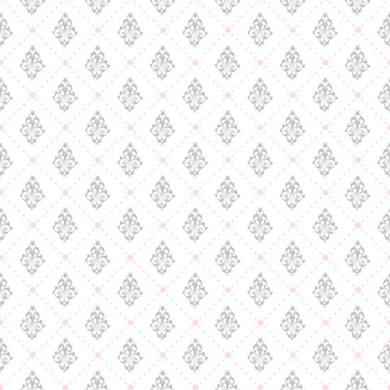 Хлопок Сатин Орнамент на белом 50х40