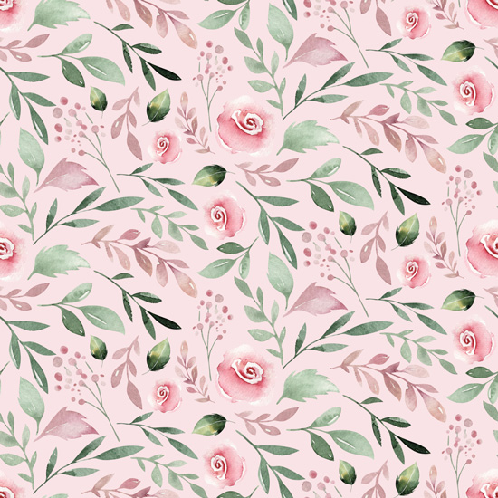 Хлопок Перкаль Розы на розовом 50х40