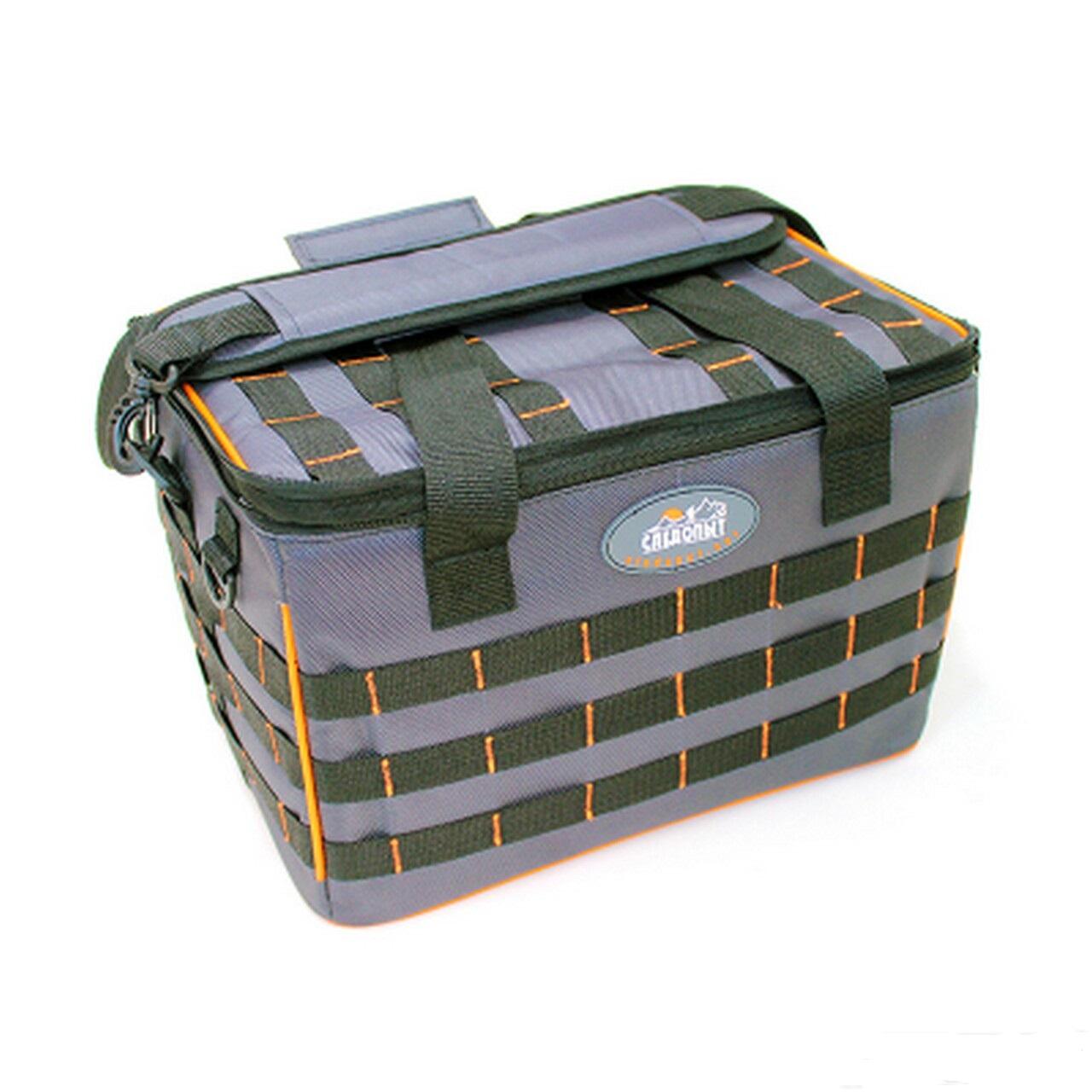 """Сумка рыболовная """"СЛЕДОПЫТ"""" Base Lure Bag XL, цв. серый"""