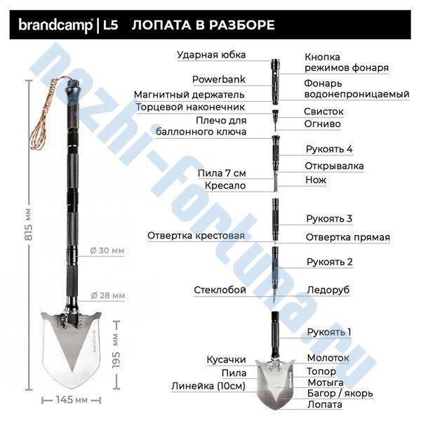 Многофункциональная складная  лопата  L5