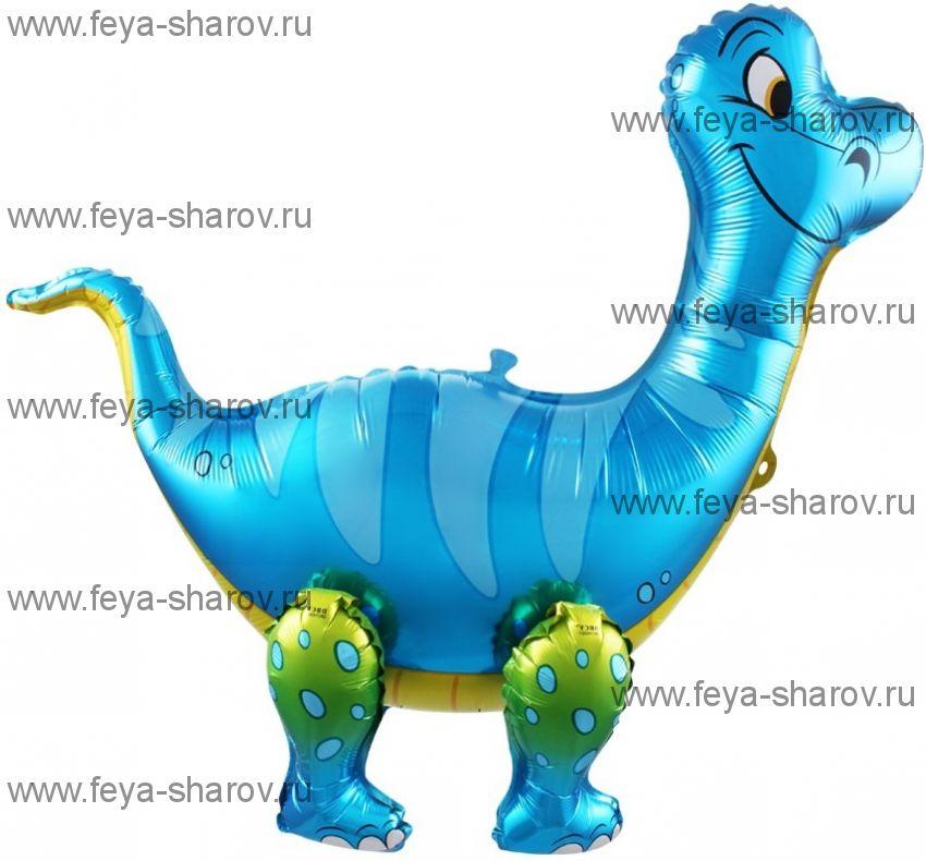 Шар Динозавр Брахоизавр 71 см Голубой