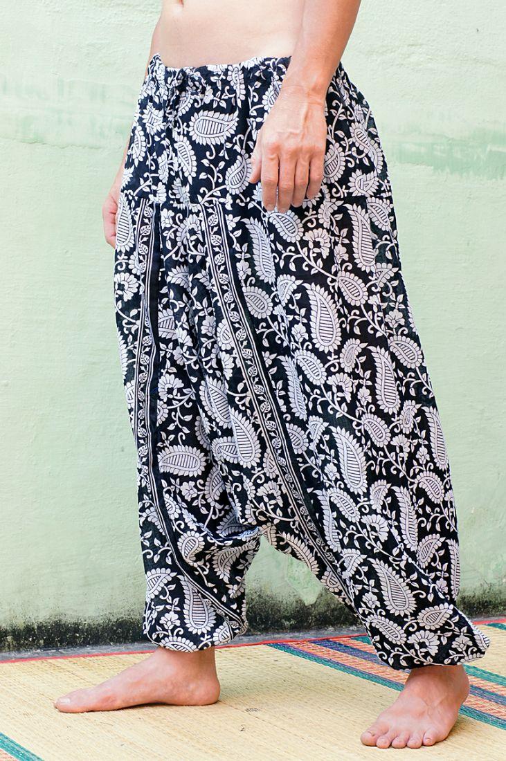 Восточные штаны алладины с турецкими огурцами (отправка из Индии)