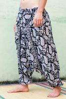 Восточные штаны алладины. Узор - турецкие огурцы пейсли. Купить в интернет-магазине