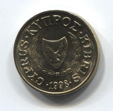 1 цент 1998 года Кипр UNC