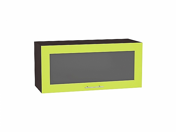 Шкаф верхний Валерия ВГ800 со стеклом (лайм глянец)