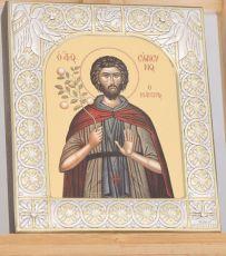 Икона Евфросин Палестинский преподобный (9х10,5см)