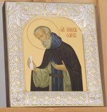 Икона Нил Сорский преподобный (9х10,5см)