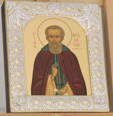 Икона Феодосий Печерский преподобный (9х10,5см)