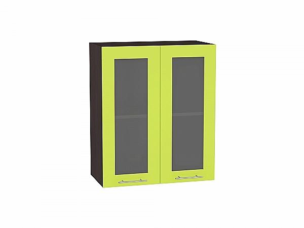 Шкаф верхний Валерия В609 со стеклом (лайм глянец)