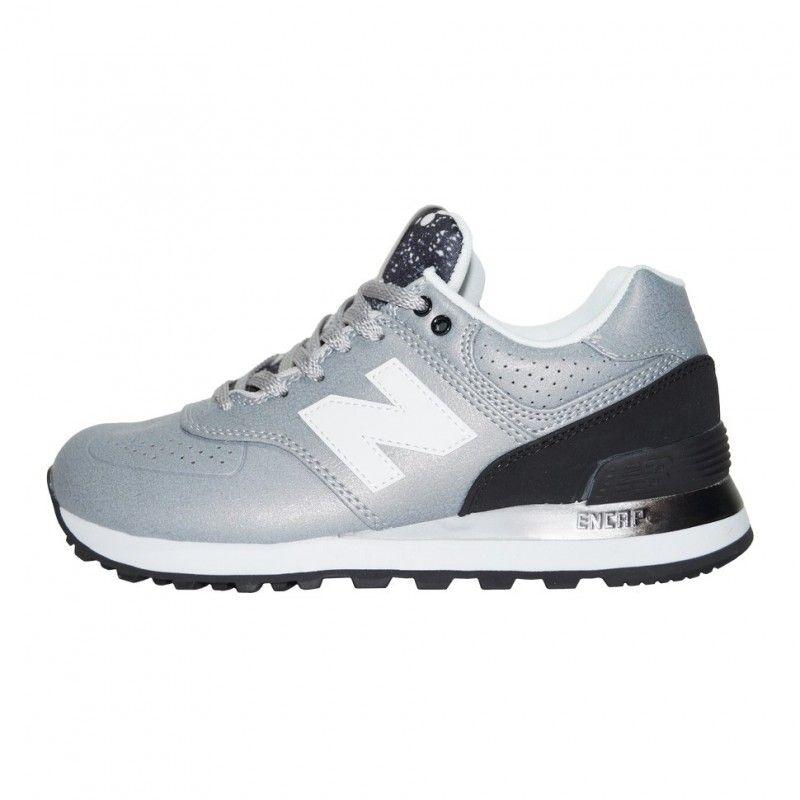 Кроссовки New Balance 574 Leather Gray Black