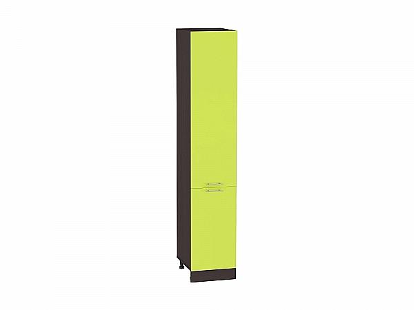 Шкаф пенал с 2-мя дверцами Валерия ШП400 (лайм глянец)