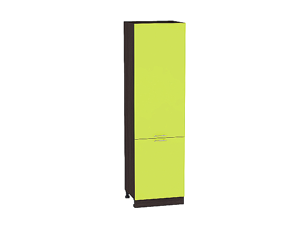 Шкаф пенал с 2-мя дверцами Валерия ШП600Н (лайм глянец)
