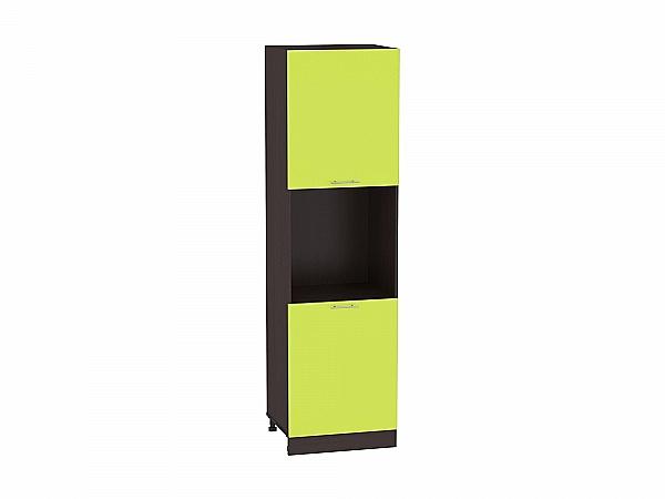 Шкаф пенал с 2-мя дверцами Валерия ШП600Н-Ф47 (лайм глянец)
