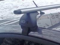 Багажник на крышу Volkswagen Polo sedan (2010-...), Евродеталь, аэродинамические дуги