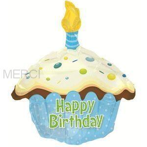 Шар фигура Кекс с Днем рождения